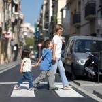 peatones y niños concientizar